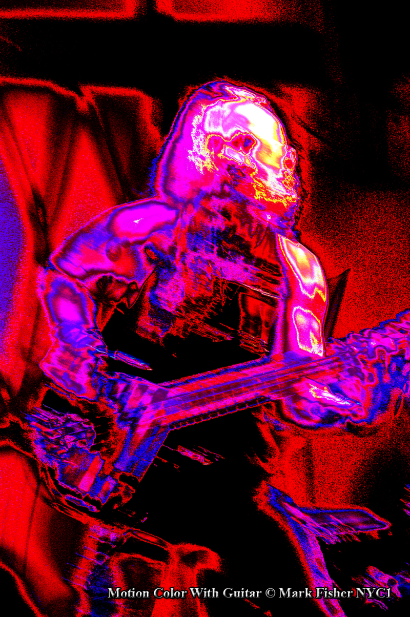 Motion Color With Guitar © Mark Fisher NYC1-0619